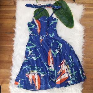 ✨Vintage✨ American Living Nautical Retro Dress EUC